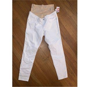 White Old navy full panel maternity jeans